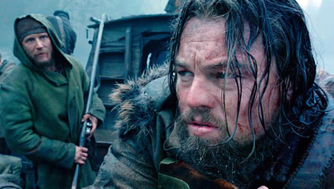 Leonardo Di Caprio con Tom Hardy en la pel+¡cula el  Renacido.