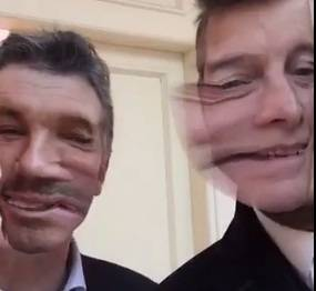 Presidente argentino junto a Tinelli, en Snapchat.