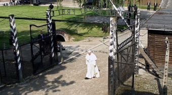 Pope Francis visits former Nazi German concentration and extermination camp Auschwitz-Birkenau in Oswiecim