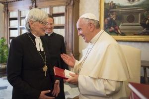 Francisco y Arzobispo luterana de Suecia, Antje Jackelan