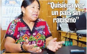 Rosalina Tuyuc Velasquez de Guatemala.