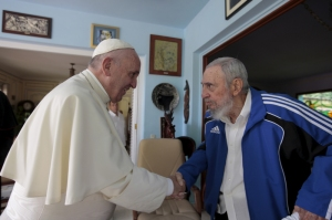 Pope Francis meets with former Cuban President Fidel Castro in Havana