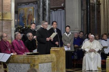 Visita a los anglicanos en Roma