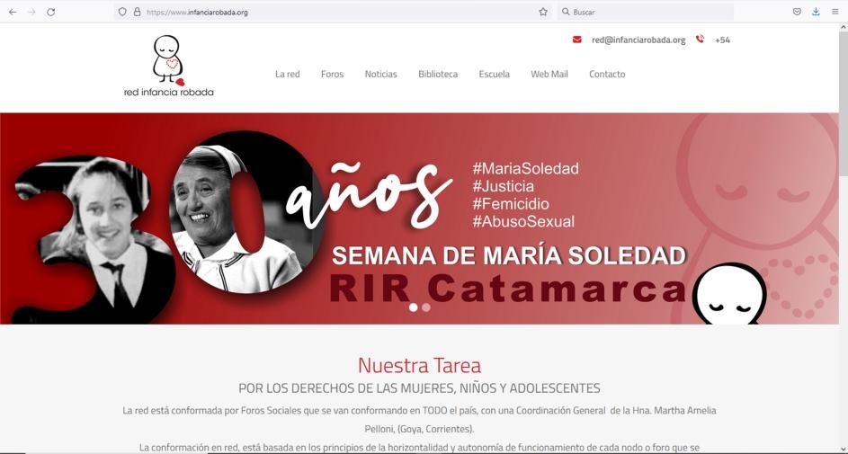 web infanciarobada.org